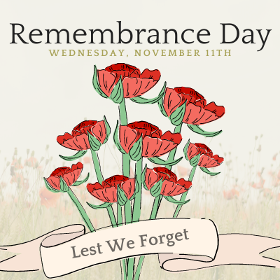 Remembrance Day Virtual Ceremonies